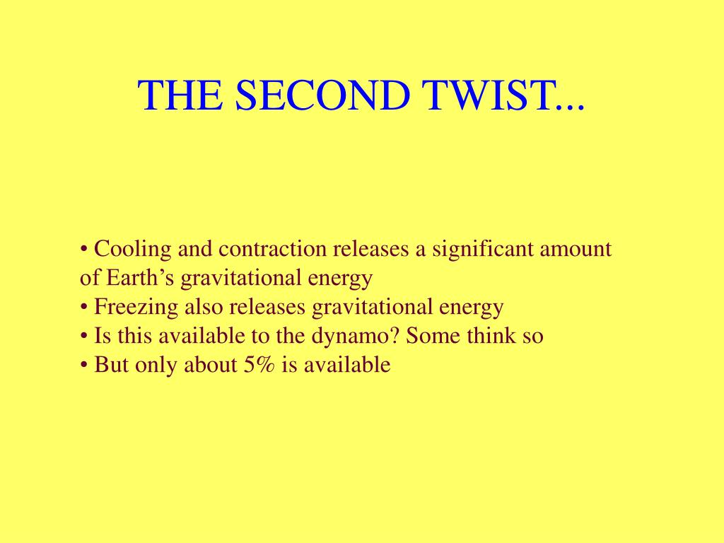 THE SECOND TWIST...