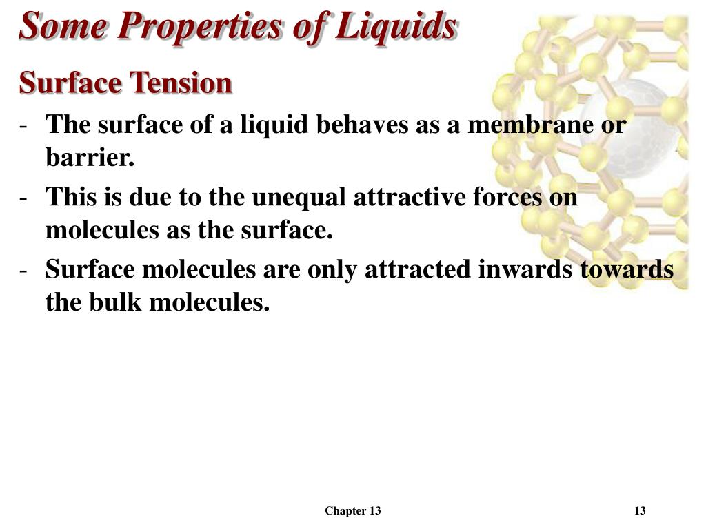 surface tension property of liquids