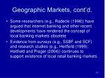 geographic markets cont d10