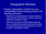 geographic markets