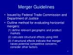 merger guidelines