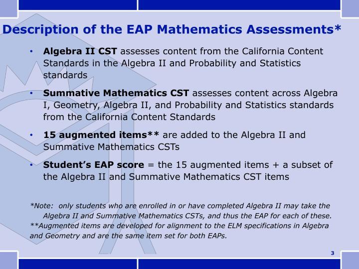 Algebra II CST