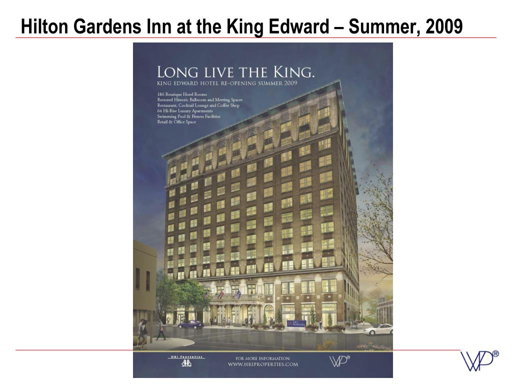 Hilton Gardens Inn at the King Edward – Summer, 2009