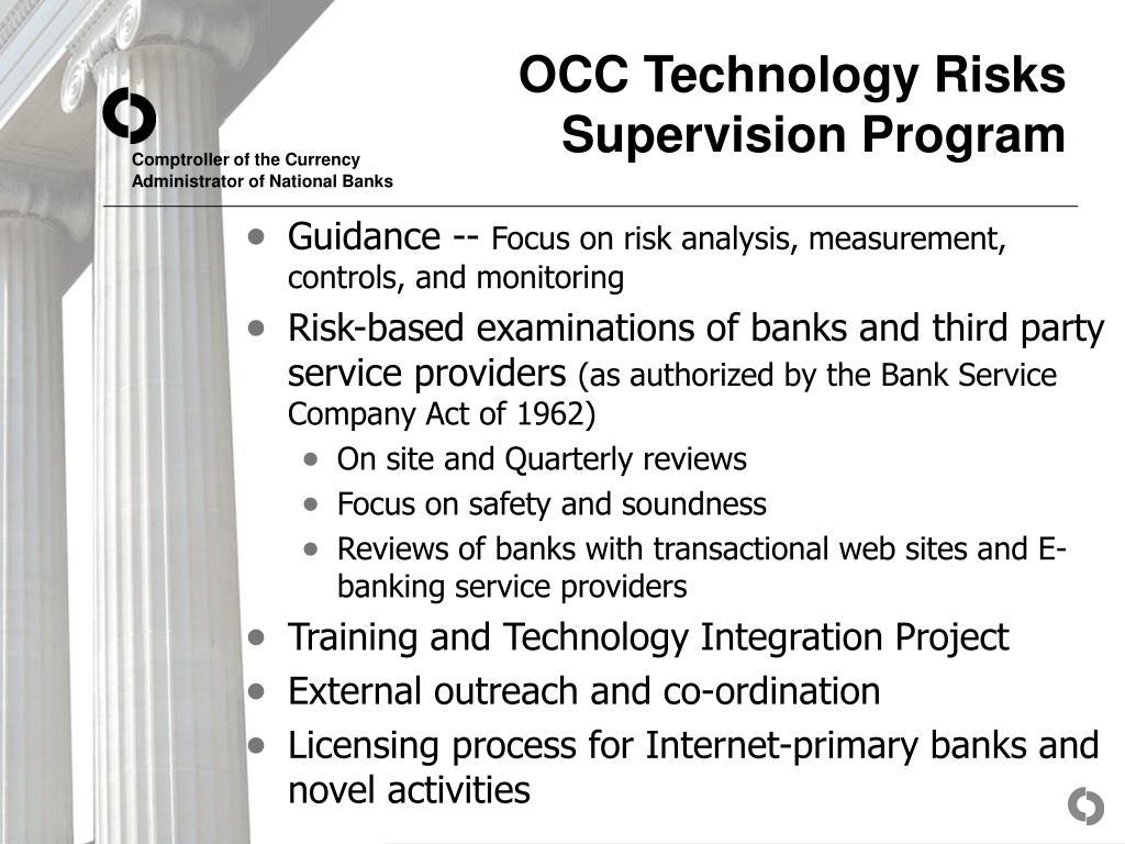 OCC Technology Risks