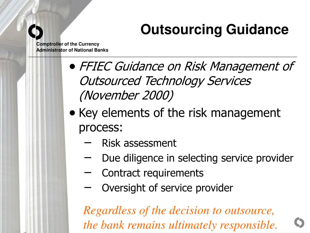 Outsourcing Guidance