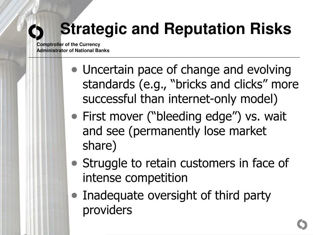 Strategic and Reputation Risks