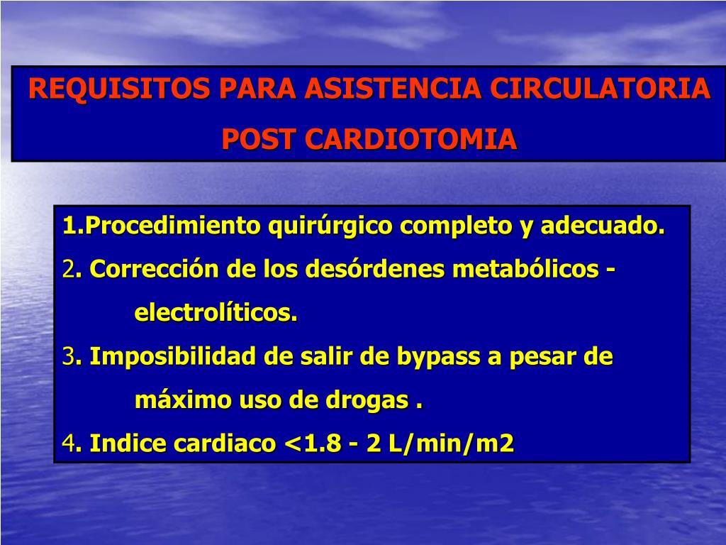 REQUISITOS PARA ASISTENCIA CIRCULATORIA