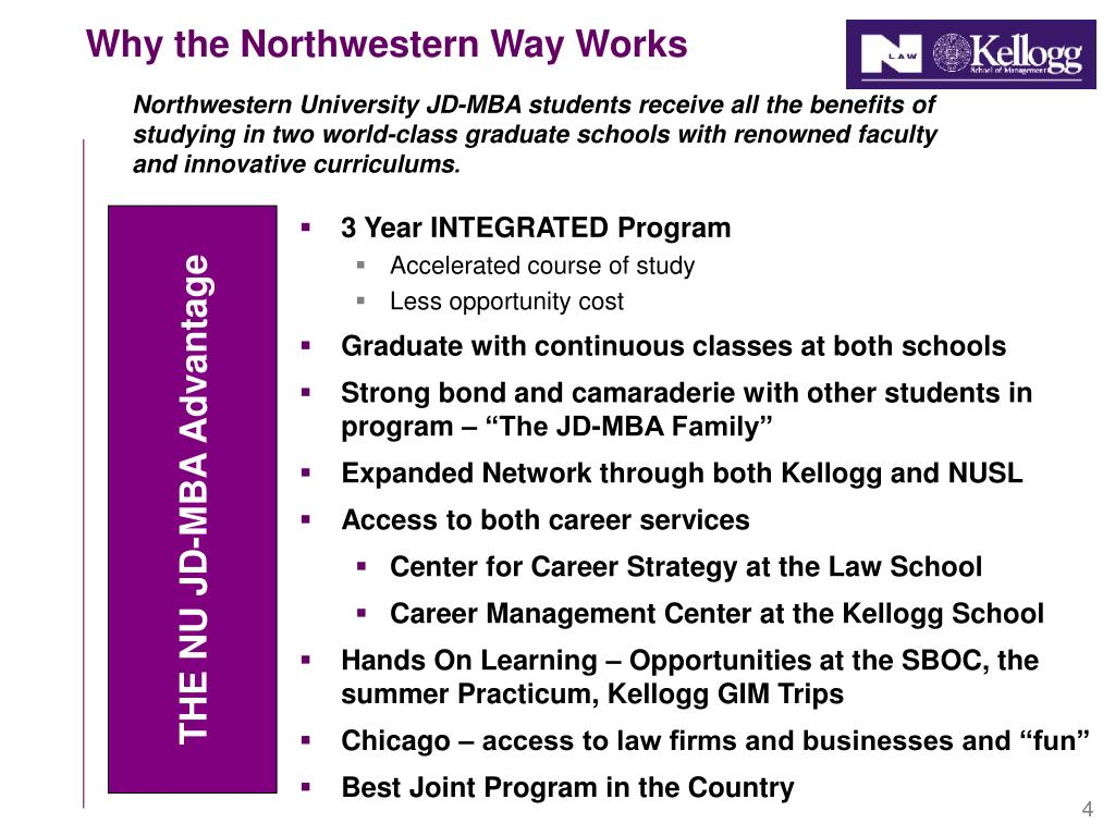 Why the Northwestern Way Works