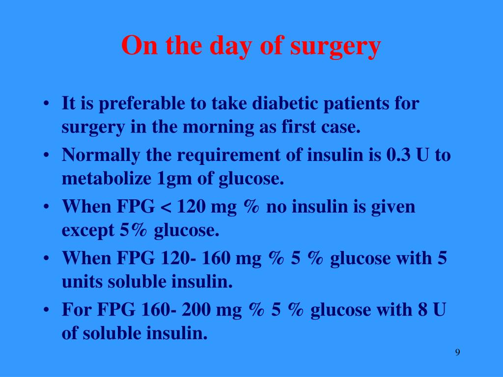 On the day of surgery