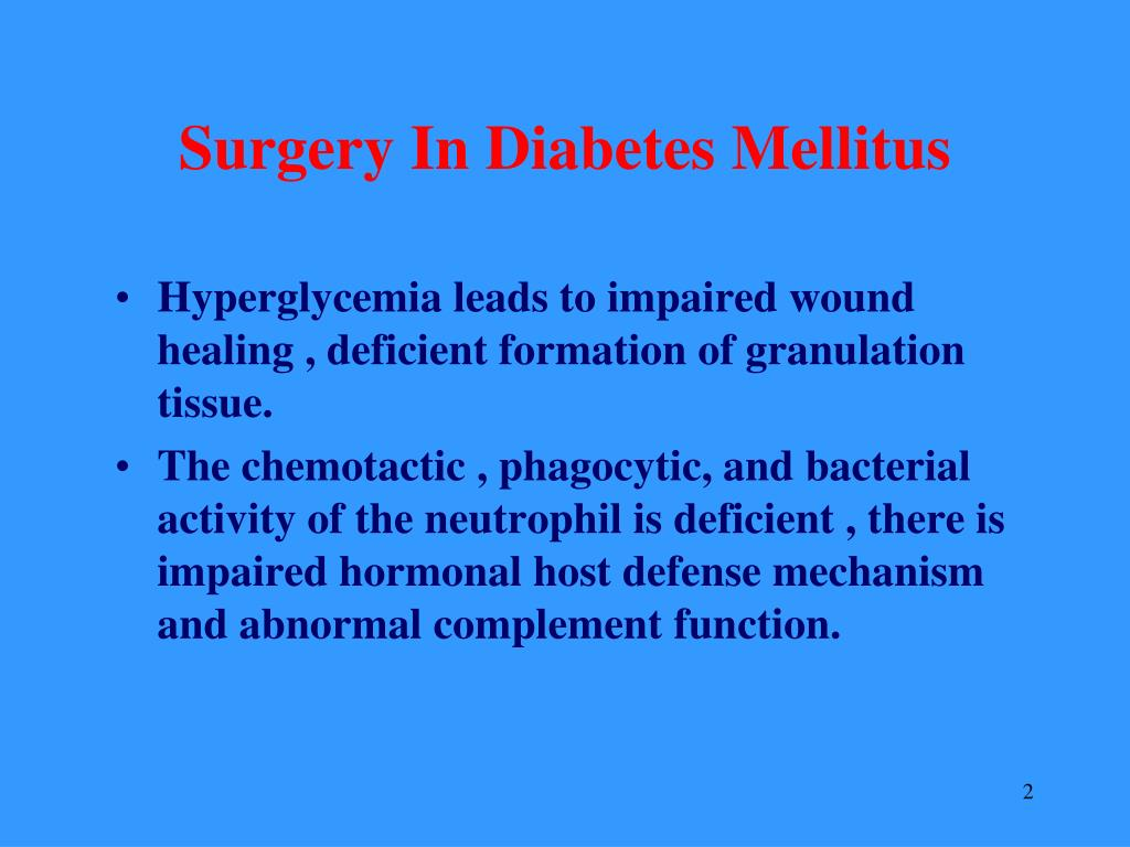 Surgery In Diabetes Mellitus