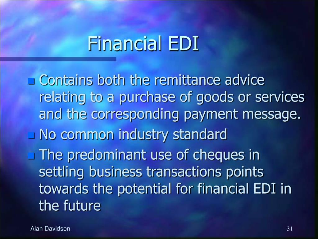 Financial EDI