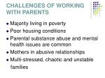 challenges of working with parents