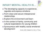 infant mental health is