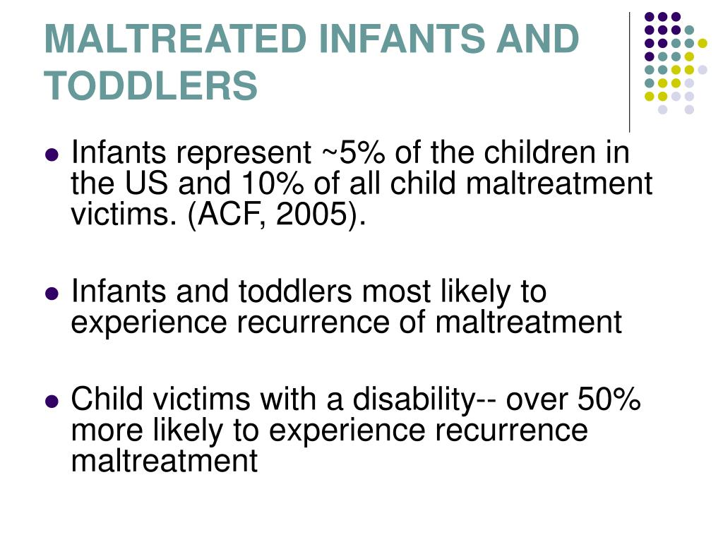 MALTREATED INFANTS AND TODDLERS