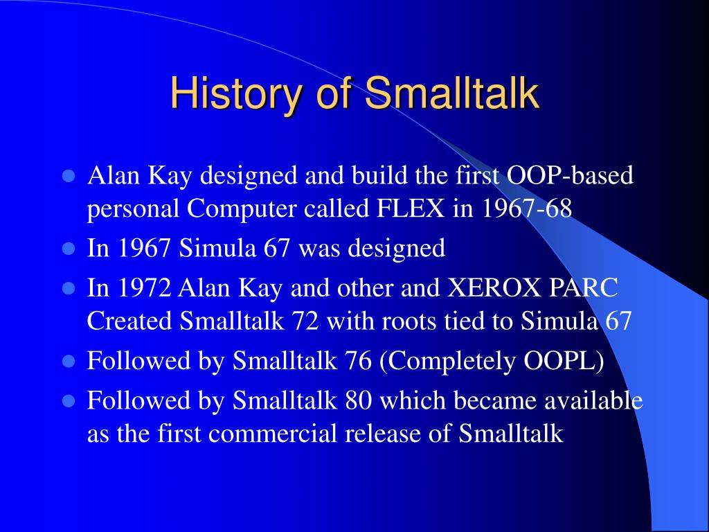 History of Smalltalk