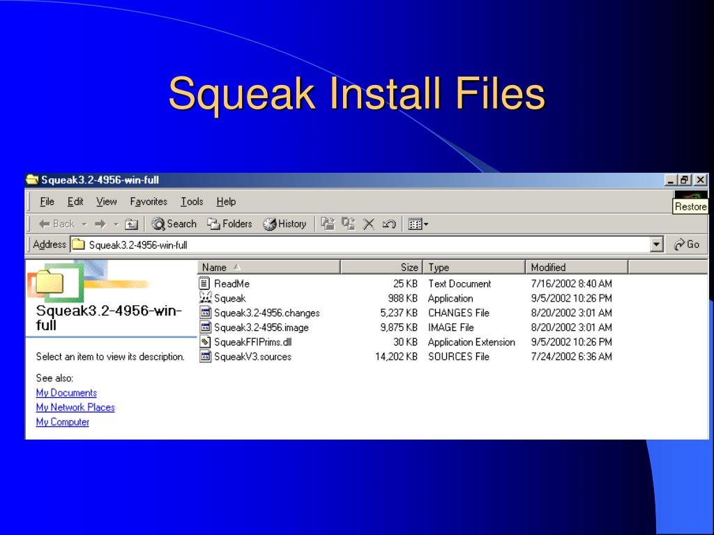 Squeak Install Files