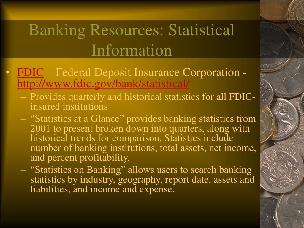 Banking Resources: Statistical Information