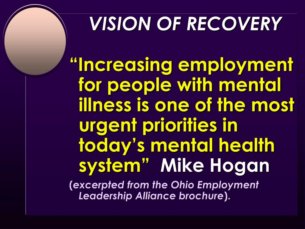 VISION OF RECOVERY