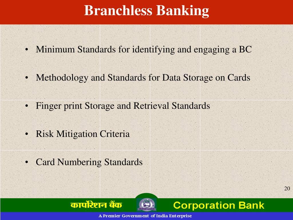 Branchless Banking