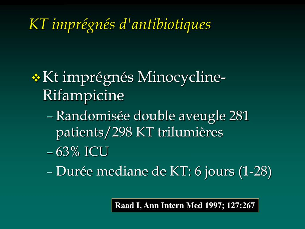 KT imprégnés d'antibiotiques