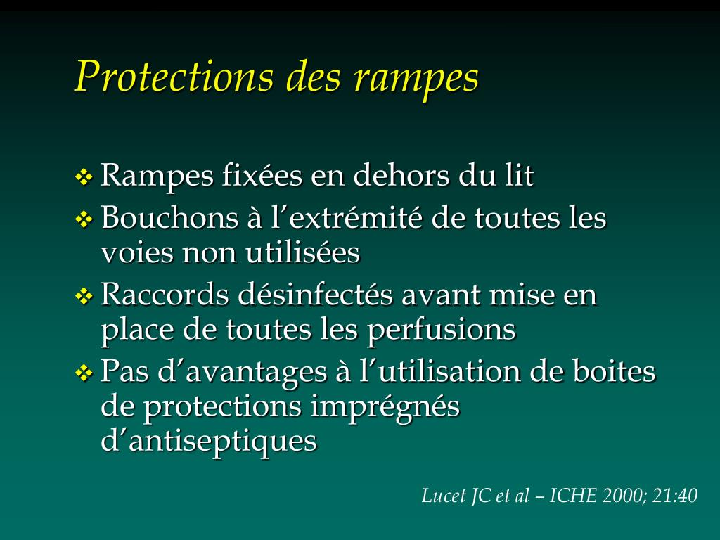 Protections des rampes