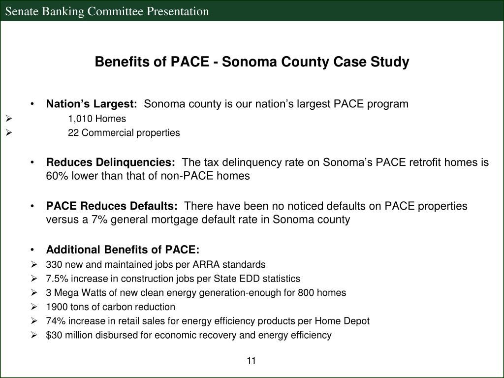 Benefits of PACE - Sonoma County Case Study