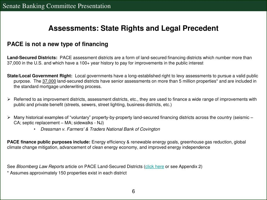 Assessments: State Rights and Legal Precedent