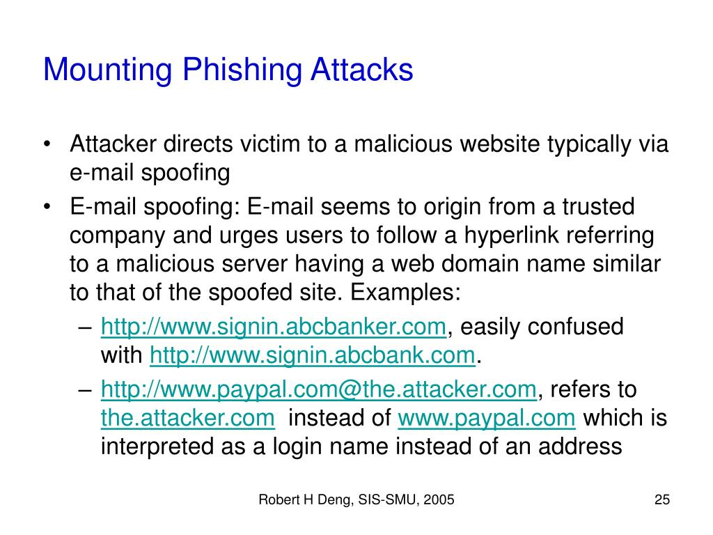 Mounting Phishing Attacks