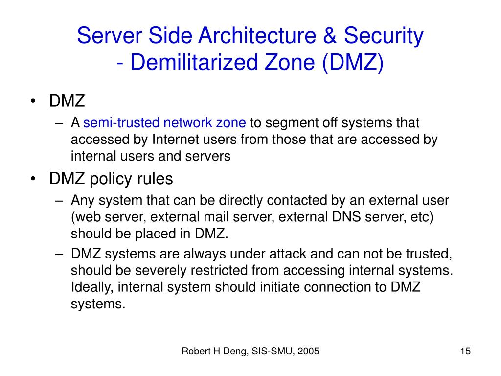 Server Side Architecture & Security