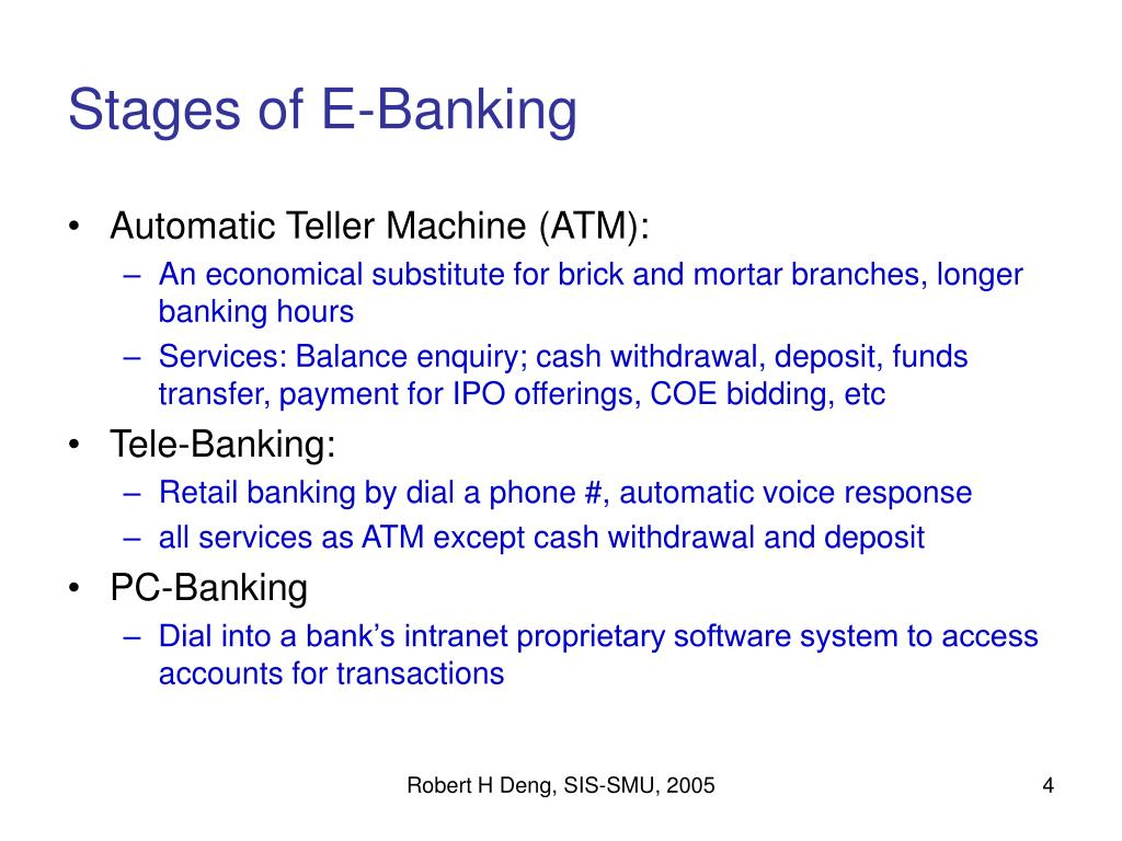 Stages of E-Banking