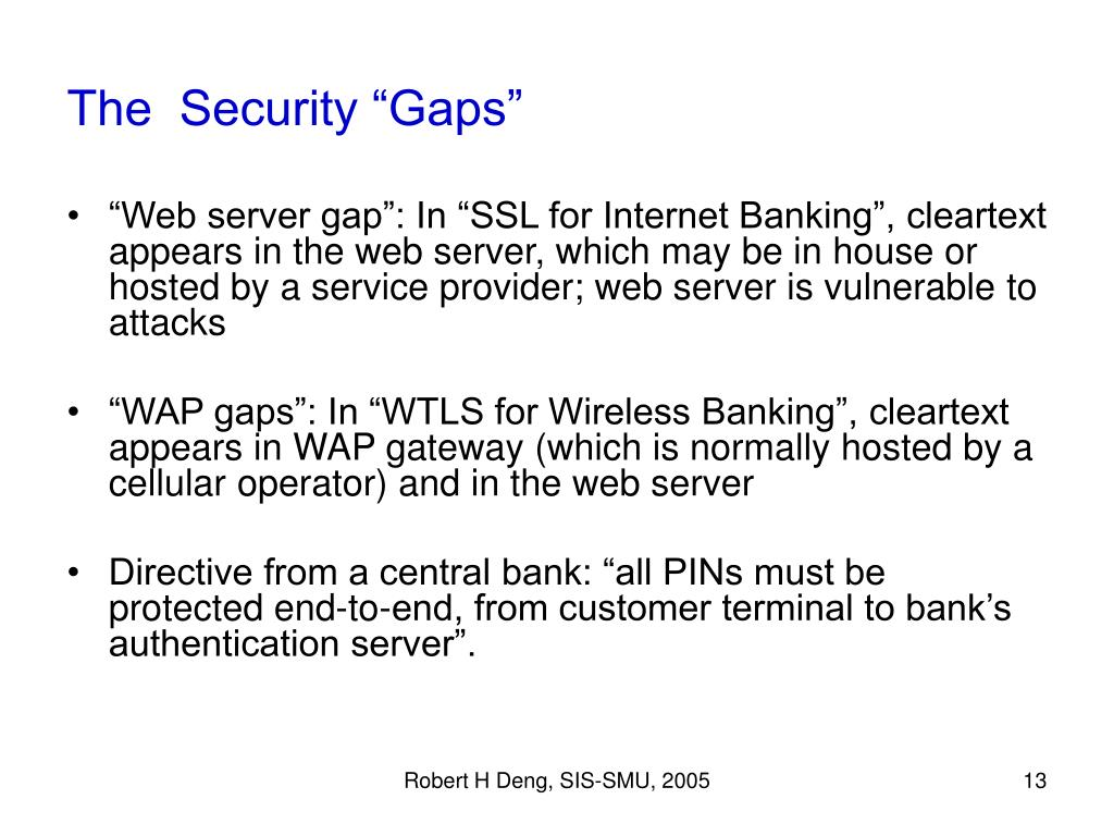 "The  Security ""Gaps"""