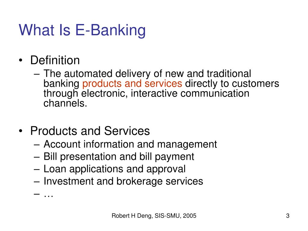 What Is E-Banking