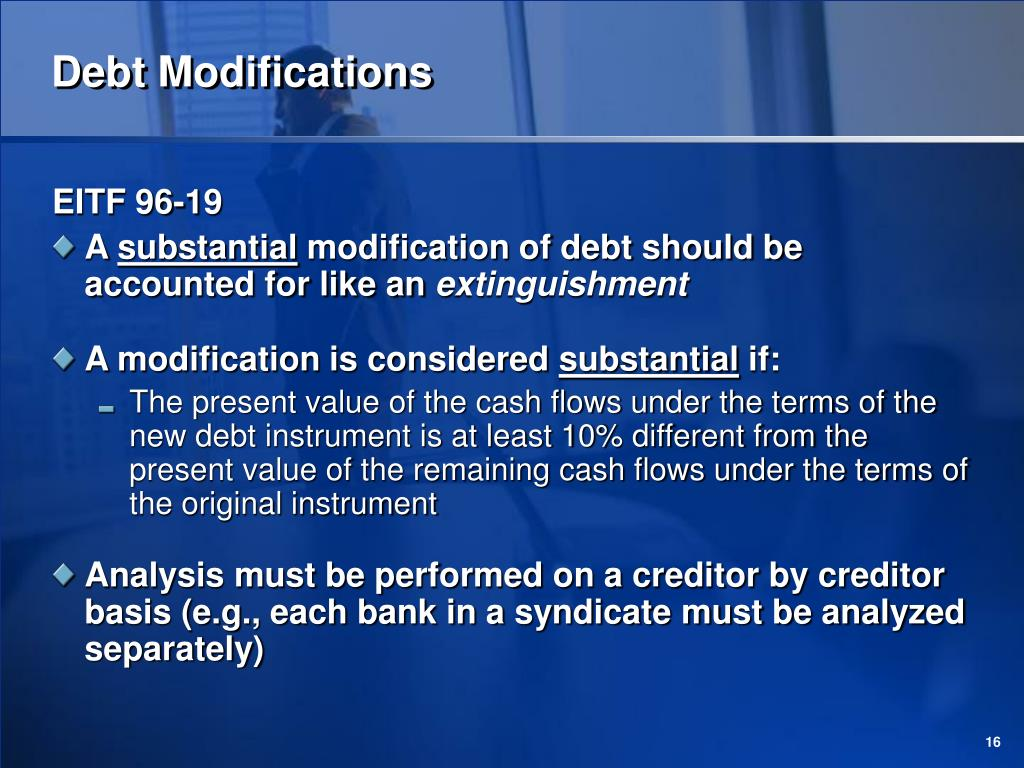 Debt Modifications