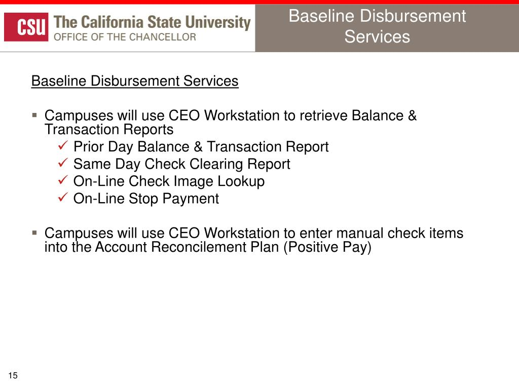 Baseline Disbursement Services
