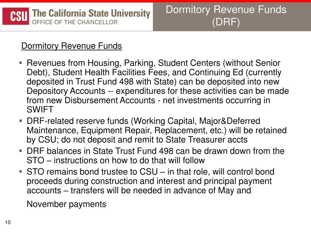 Dormitory Revenue Funds (DRF)
