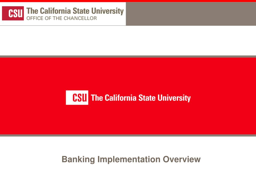 Banking Implementation Overview