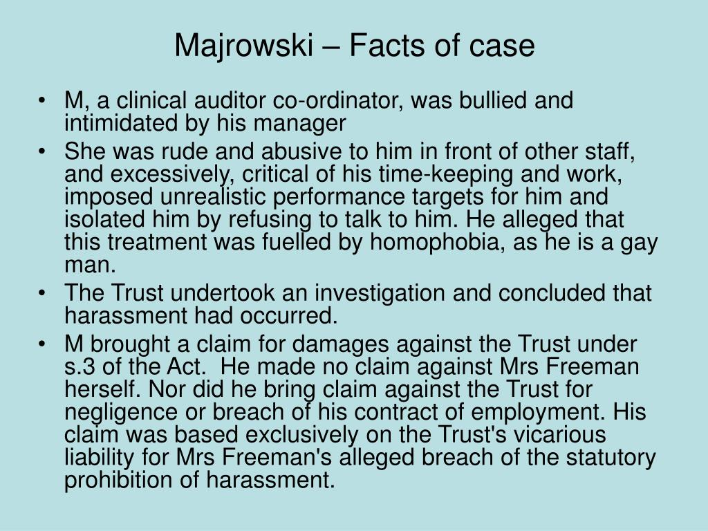 Majrowski – Facts of case