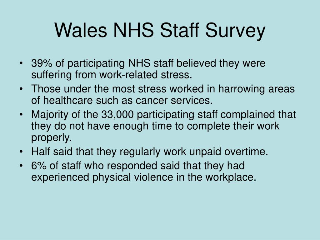 Wales NHS Staff Survey