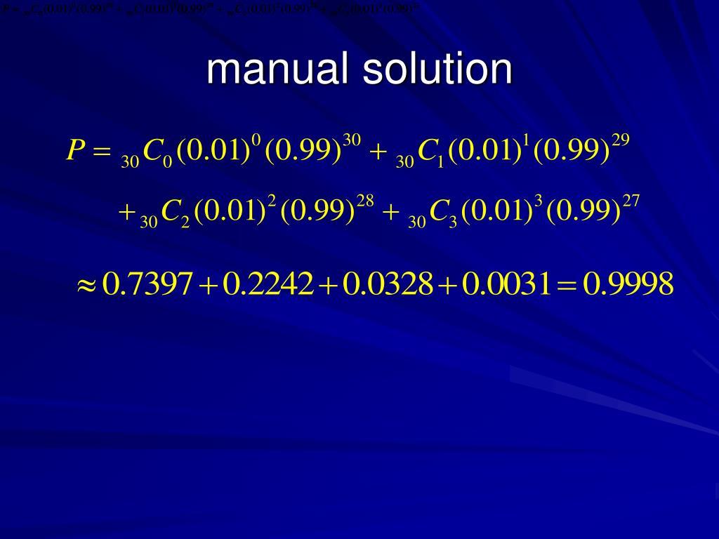 manual solution