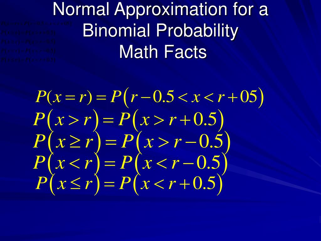 Normal Approximation for a Binomial Probability