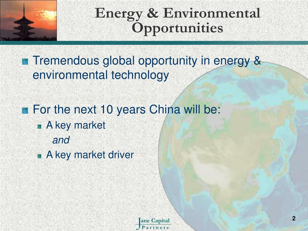Energy & Environmental Opportunities