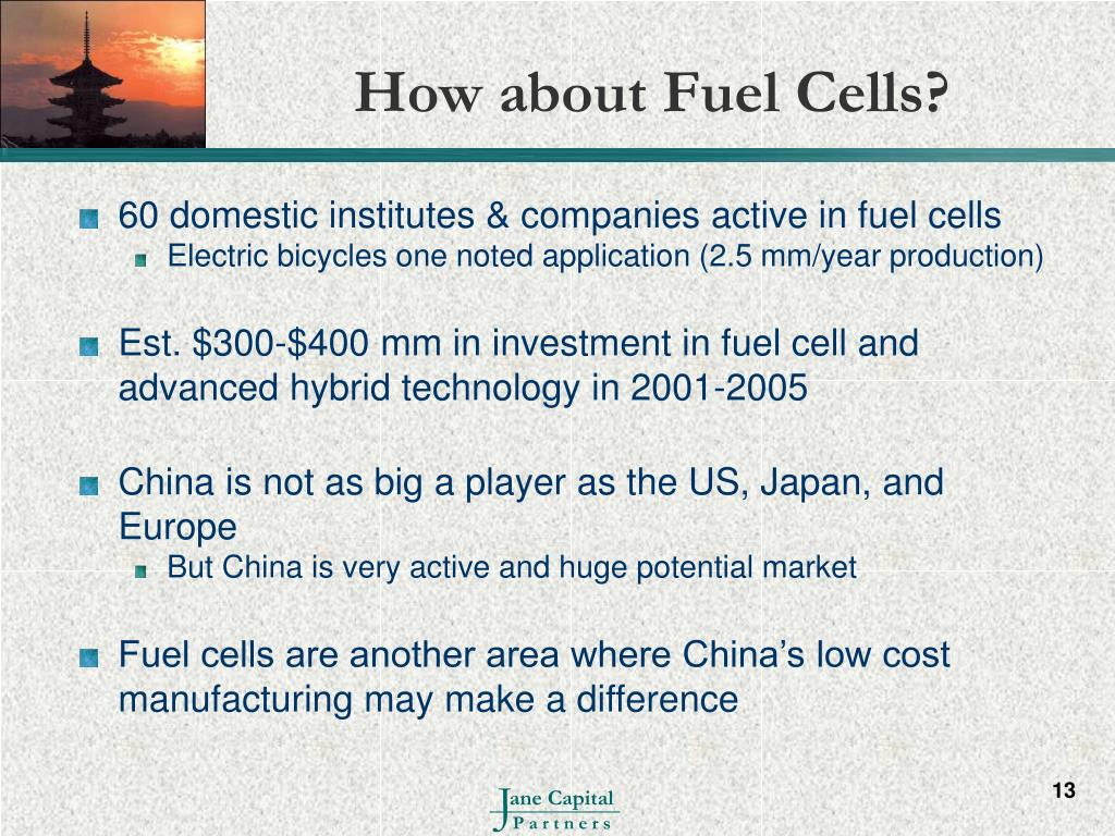 How about Fuel Cells?
