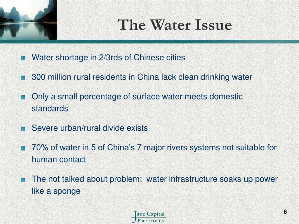 The Water Issue