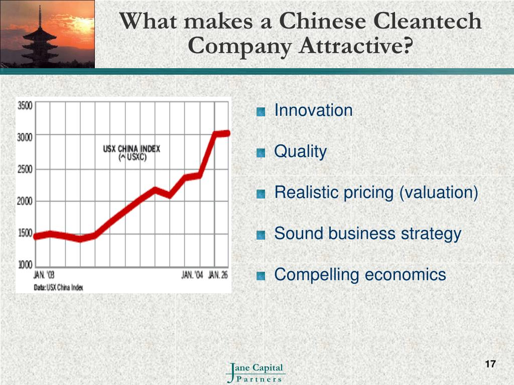 What makes a Chinese Cleantech Company Attractive?