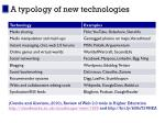 a typology of new technologies