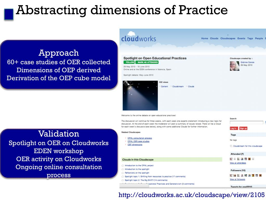 Abstracting dimensions of Practice