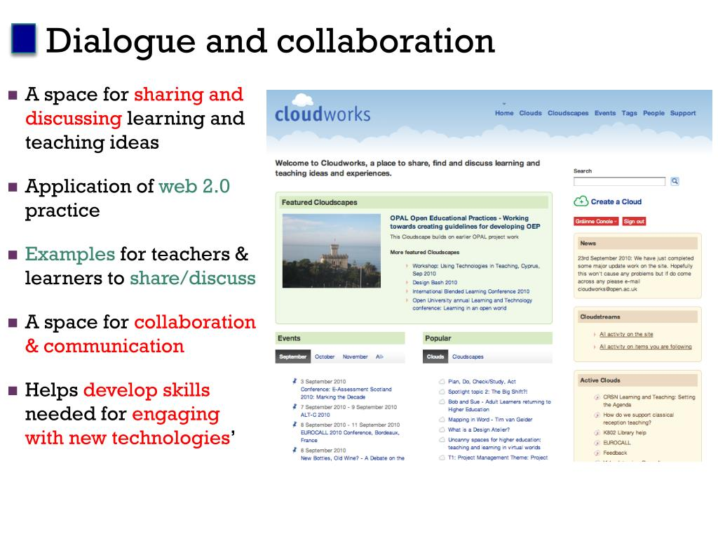 Dialogue and collaboration