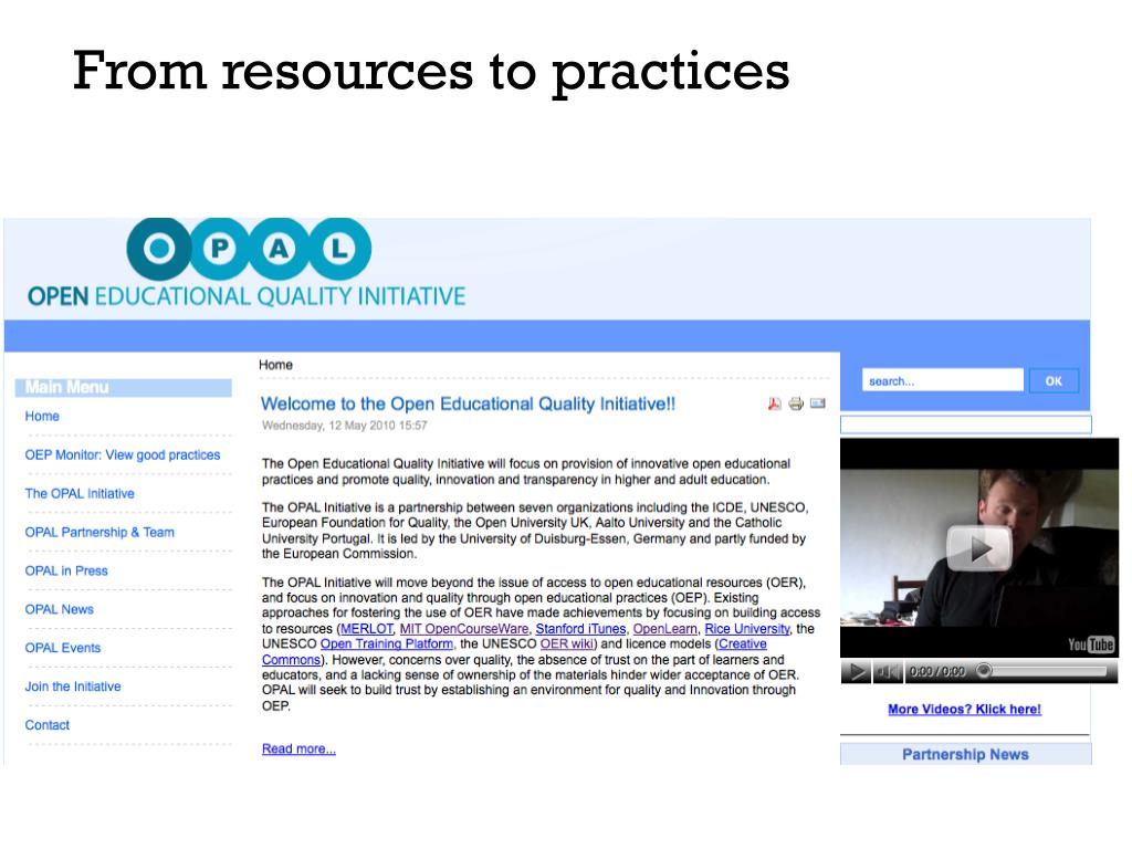From resources to practices