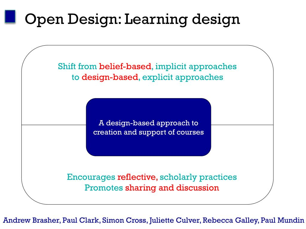 Open Design: Learning design