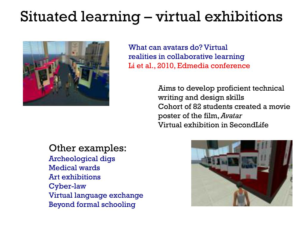 Situated learning – virtual exhibitions
